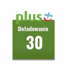 Doładowanie Plus 30 zł PLN AUTOMAT 24/7 PL WYSYŁKA W 2 MINUTY