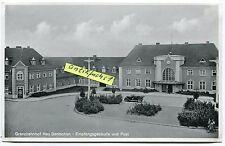 Postkarte um 1939:  Neu Bentschen / Zbąszynek , Grenzbahnhof und Post