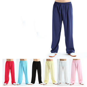 Tai Chi Kung Fu Cotton Pants Martial Arts Yoga Fitness Sports Trousers