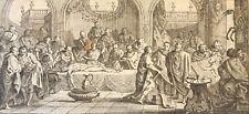 La dissection d'après A Humblot gravé par Aveline  1743 Médecine Hôpital