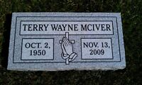 Cemetery grave stone 28x16x4 includes engraving 100% granite free shipping