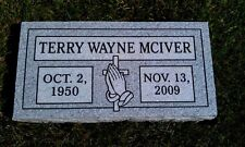 CEMETERY GRAVE STONE- Gray- 28 x 14 x 4 multiple engraving options