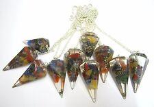 Beautiful Ten Orgone pendulums Gift Crystal Healing Dowsing reiki feng shui