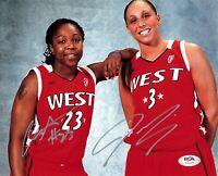 Cappie Pondexter Diana Taurasi Signed 8x10 photo WNBA PSA/DNA Autographed
