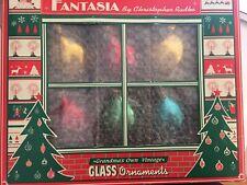 Christopher Radko Fantasia St. Moritz Glass Christmas Ornaments W/Original Box
