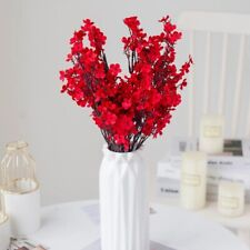 New Listing Artificial Flower Branch Cherry Fake Plants Bouquet Living Room Vase Decoration