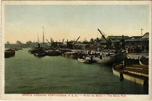 PC CPA MOZAMBIQUE / PORTUGAL, THE BEIRA PORT, VINTAGE POSTCARD (b13387)