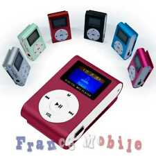 MP3 Mini Clip Ecouteur LCD Lecteur Support à 32GB Micro SD Carte Bordeaux