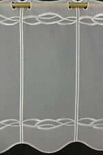 m/€15,00 Scheibengardine Gardine Bistrogardine 44 cm hoch 5411 ecrue bestickt