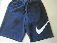 Nike Size Small Navy Sportswear Sweat Cotton Shorts 3 Pockets