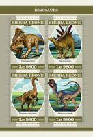 Sierra Leone - 2018 Dinosaurs - 4 Stamp Sheet - SRL18209a