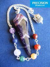 Amethyst Chakra Buddha Chain Faceted Healing Crystal Gemstone Precision Pendulum