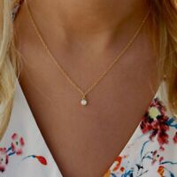 Gold Necklace Crystal Choker Cubic Zirconia Bling Rhinestone Layer Drop Collar