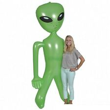 8' Green Blow Up Inflatable Alien Doll Party Favor Halloween Pool Float