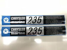 CENTURY BOAT~LYMAN~CHRYSLER MARINE 235 HP ENGINE DECALS