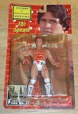 1999 Figures Toy Company Bloody Tito Santana Legends Wrestling Figure MOC WWE