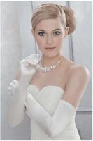 Gants en satin blanc brillant très longs 58 cm qualité cérémonie mariage soirée