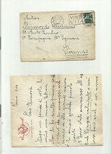 95862 antica lettera con busta  militare par ingenio virtus sala allievi  genio