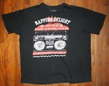 RAPPERS DELIGHT NILE RODGERS BERNARD EDWARDS 1979 / LYRIC BLACK T-SHIRT SIZE XL