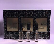 3 x Bvlgari Goldea The Roman Night Absolute Sensuelle Perfume .05 oz Each  Sample 93096234640