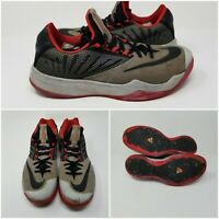 Nike Zoom Run The One Black Red Low Basketball Shoes Sneakers Mens Size 9.5