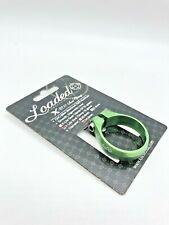 Loaded X-Lite 34.9 green aluminum seat clamp collar Ti bolt 10 grams bolt-on