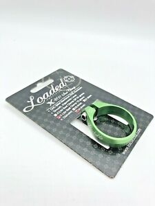 Loaded X-Lite 34.9 green aluminum seat clamp collar Ti bolt 10 grams bolt-on