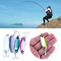 4pcs Colorful Trout Spoon Metal Fishing Lures Spinner Baits Bass Tackle C6L8