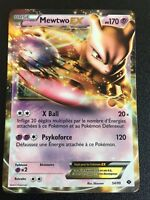 Carte Pokemon MEWTWO 54/99 Holo EX Ultra Rare Noir et Blanc Française NEUF