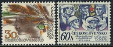 Czechoslovakia 2219-2220, MNH. Woman's Head, Grain; Workers, Child, Doves, 1979