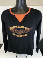 Harley Davidson Size Large Womens Long Sleeve Tie Back Shir