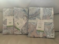 Pottery Barn Mallorie Duvet Cover Set Warm King & Euro Shams Paisley Reversible