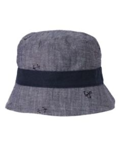 GYMBOREE FRESH CATCH CHAMBRAY w/ ANCHORS A/O BUCKET HAT 6 12 2T 3T NWT