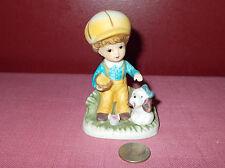 Vintage Homco Boy Feeding Puppy Dog Figurine Taiwan Porcelain 1430 V ^