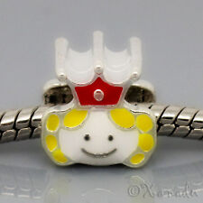 Little Princess With Ruby Red Crown European Bead For European Charm Bracelets