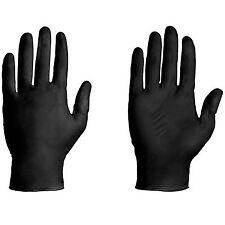 10 Confezione Nero Privo di Lattice Tatuaggio Medico Meccanico Guanti - S,M,L,