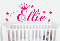 Personalised Princess crown wall art sticker name style A, any name can be made
