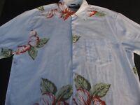 Nautica Mens Hawaiian Aloha Button Front Short Sleeve Shirt Large L