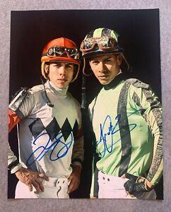 IRAD ORTIZ JR & JOSE ORTIZ DUEL SIGNED 8x10 PHOTO HORSE RACING JOCKEY SARATOGA
