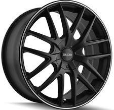 4-NEW Touren TR60 16x7 5x112/5x120 +42mm Matte Black Wheels Rims