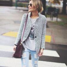 Wool Blend Women's Classic Neckline