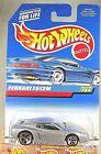 1997 Hot Wheels Collector #784 FERRARI F512M Silver w/Chrome 5Dot Spoke-Variant