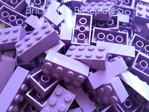LEGO BRICKS 50 x LAVENDER 2x4 Pin - From New Sets Sent in a Clear Sealed Bag