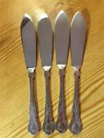 4 x Vintage Silver Plated EPNS Kings Pattern Fish Knives  A1 England 21cm