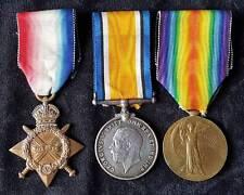 WW1 British 1914-15 Star Trio 6th Bn.York & Lancaster Regt