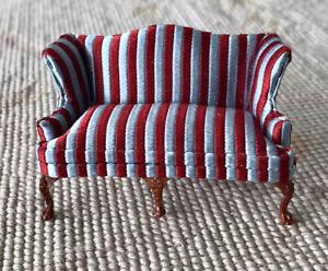 "Bespaq Stripe Sofa Lounge Couch Seat HALF INCH 1:24  1/2"" Scale 1908"