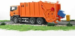 Bruder (03560) 1:16 Scale Toy Orange Scania R Series Garbage Truck - BA