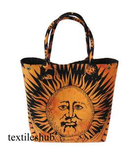 New Indian Sun Print Handbag Mandala Ladies Satchel Tote Purse Bag Shoulder Bags