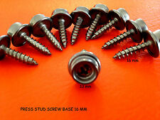 PRESS STUD SCREW BASE 16 mm STAINLESS STEEL 316 Marine Grade x 10 inc POSTAGE