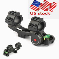 "Tactical PEPR Dual 30mm/1"" Cantilever Scope Rings Picatiiny Rail Mount New Hunt"